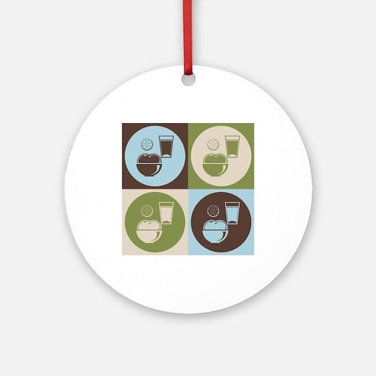 Nutrition Pop Art Ornament (Round)
