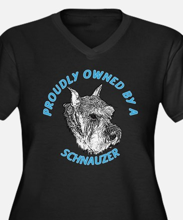 Proudly Owned Schnauzer Women's Plus Size V-Neck D