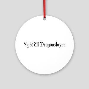 Night Elf Dragonslayer Ornament (Round)