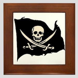 Calico Jack Pirate Flag Framed Tile