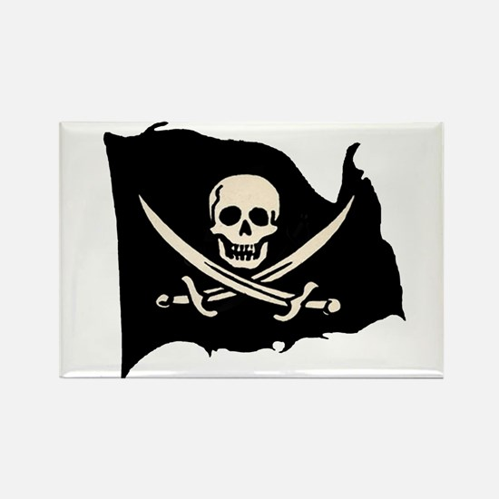Calico Jack Pirate Flag Rectangle Magnet (10 pack)