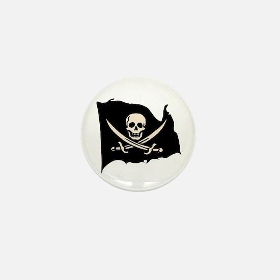 Calico Jack Pirate Flag Mini Button