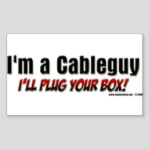 CableGuy Rectangle Sticker