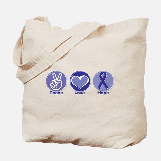 Peace Love Purple Hope Tote Bag