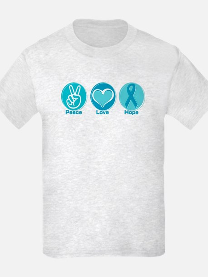Peace Love Teal Hope T-Shirt