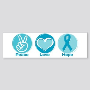 Peace Love Teal Hope Sticker (Bumper)