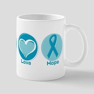 Peace Love Teal Hope 11 oz Ceramic Mug