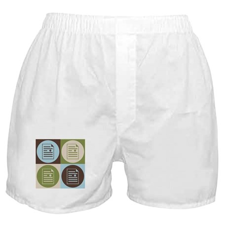 Medical Transcription Pop Art Boxer Shorts