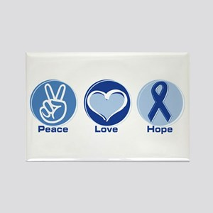 Peace Love Blue Hope Rectangle Magnet