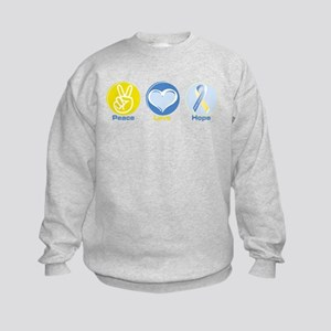 Peace Love DS hope Kids Sweatshirt