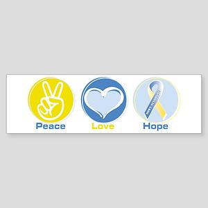 Peace Love Down syn hope Sticker (Bumper)
