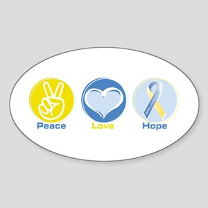 Peace Love DS hope Sticker (Oval)