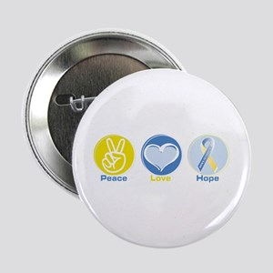 """Peace Love DS hope 2.25"""" Button"""