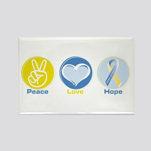 Peace Love DS hope Rectangle Magnet