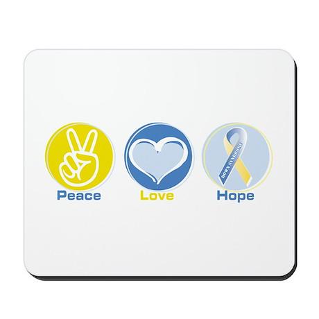 Peace Love Down syn hope Mousepad
