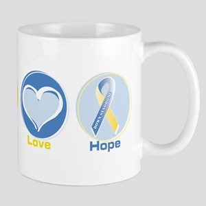Peace Love DS hope 11 oz Ceramic Mug