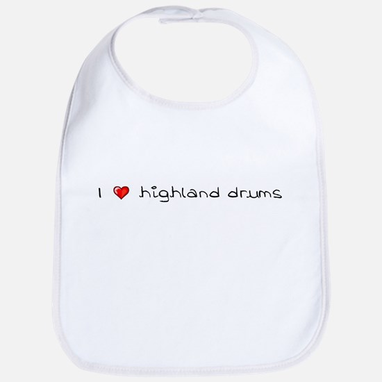 I Heart Highland Drums Bib