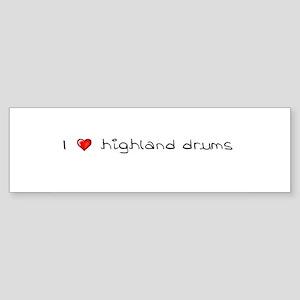 I Heart Highland Drums Bumper Sticker