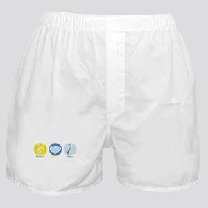Peace Love BlueYellow Hope Boxer Shorts