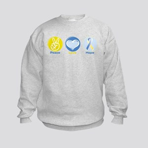 Peace Love BlYel Hope Kids Sweatshirt
