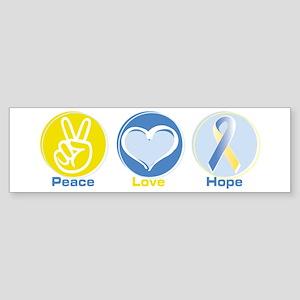 Peace Love BlueYellow Hope Sticker (Bumper)