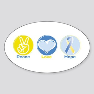 Peace Love BlYel Hope Sticker (Oval)