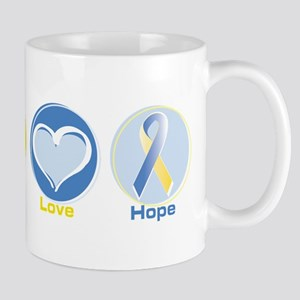 Peace Love BlYel Hope 11 oz Ceramic Mug