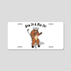 Grip It & Rip It! Aluminum License Plate