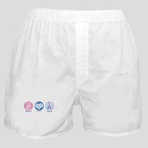 Peace Love BlPk Hope Boxer Shorts