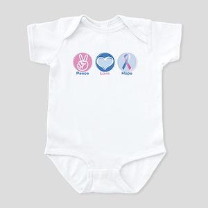 Peace Love BlPk Hope Baby Light Bodysuit