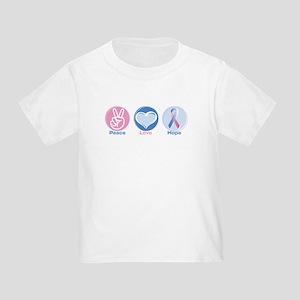 Peace Love BlPk Hope Toddler T-Shirt