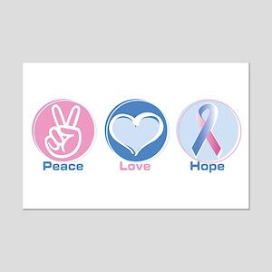 Peace Love Bl Pk Hope Mini Poster Print