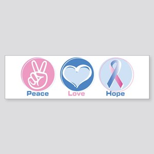 Peace Love Bl Pk Hope Sticker (Bumper)
