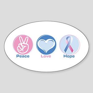 Peace Love BlPk Hope Sticker (Oval)
