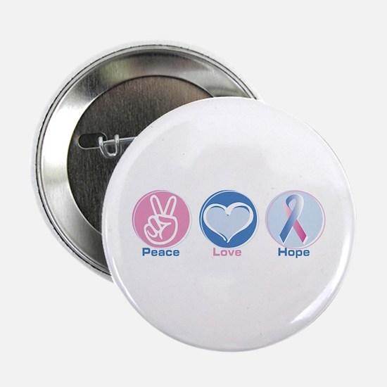 "Peace Love Bl Pk Hope 2.25"" Button"