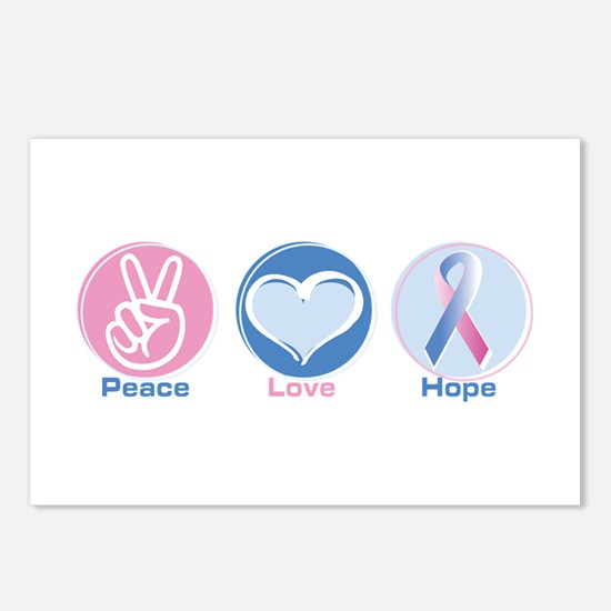 Peace Love Bl Pk Hope Postcards (Package of 8)