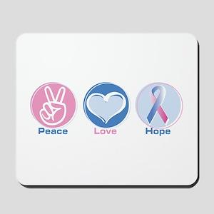 Peace Love Bl Pk Hope Mousepad