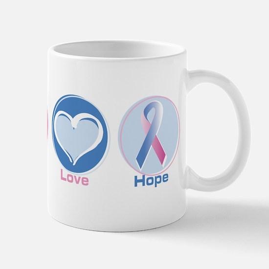 Peace Love Bl Pk Hope Mug