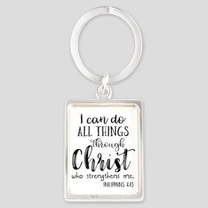 Philippians 4:13 Keychains