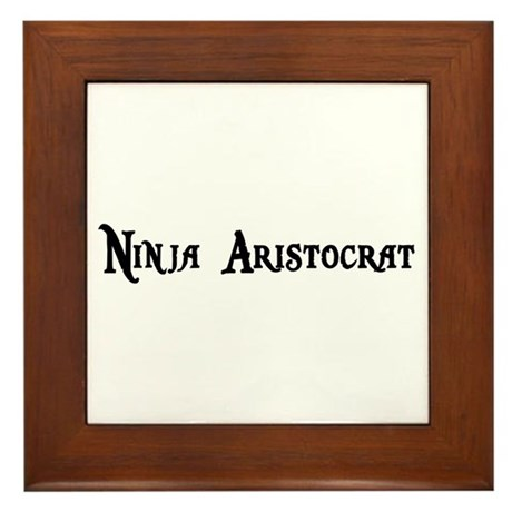 Ninja Aristocrat Framed Tile