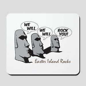 Easter Island Rocks Mousepad