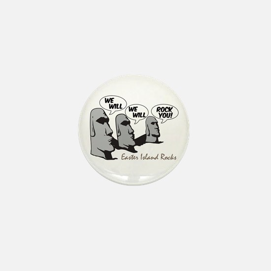 Easter Island Rocks Mini Button