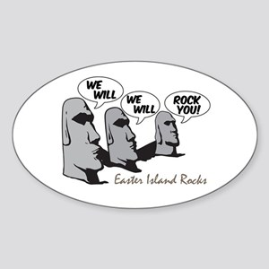 Easter Island Rocks Oval Sticker