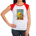 Witch & Cat Women's Cap Sleeve T-Shirt