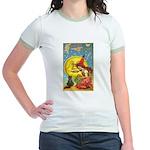 Witch & Cat Jr. Ringer T-Shirt