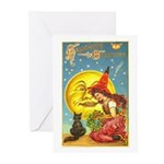 Witch & Cat Greeting Cards (Pk of 20)