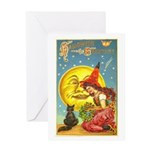 Witch & Cat Greeting Card