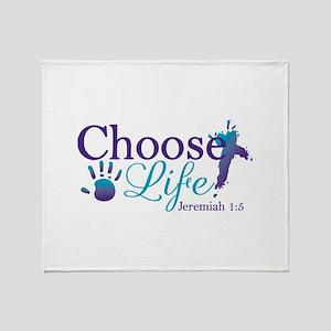 Choose Life Jeremiah 1:5 Throw Blanket