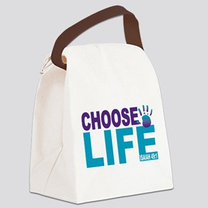 Choose Life Isaiah 49:1 Canvas Lunch Bag