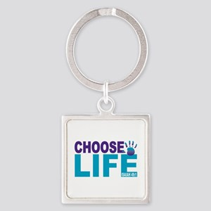 Choose Life Isaiah 49:1 Square Keychain